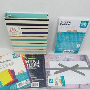 Mini 3 Ring binder/planner set